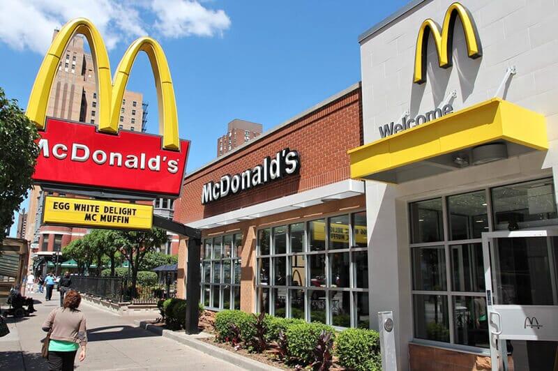 outside of mcdonalds restaurant