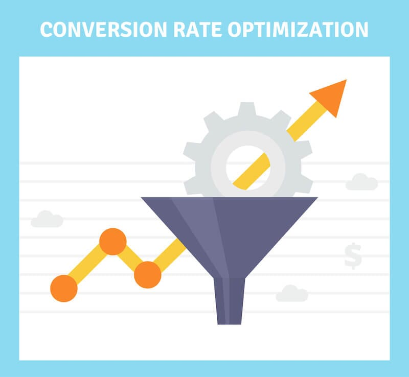conversion rate optimization line chart